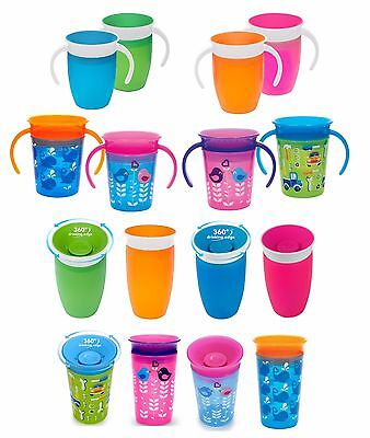Munchkin Miracle 360 Cups: Trainer 6m+, Sippy 12m+ in Plain or Deco