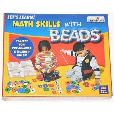 MATHS SKILLS WITH BEADS Educational PRESCHOOL Game EARLY NUMERACY Counting Kids
