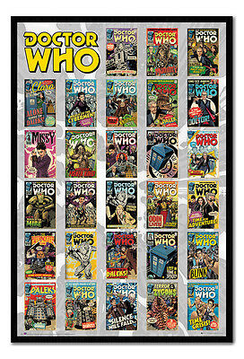 Framed Doctor Who Comics Compilation Poster New