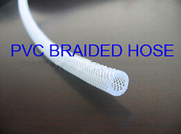Clear Reinforced PVC Braided Hose 30 metre Coil - Pneumatic, Water
