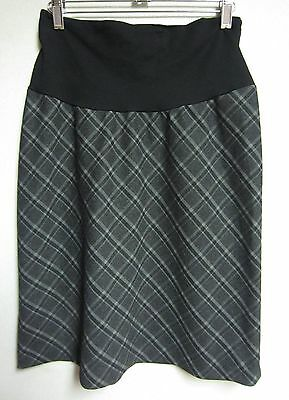 Bellyssima Maternity Grey Plaid A-Line Skirt Size Extra Small Nwot