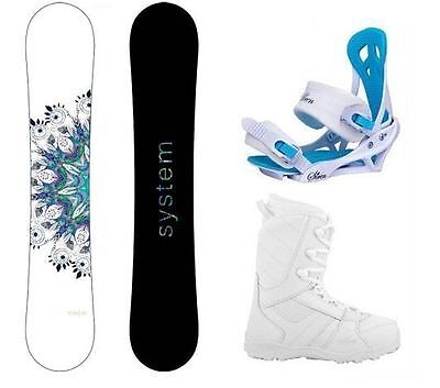 New 2016 System Flite Women's Snowboard Package + Mystic Bindings + Lux Boots