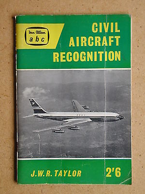 Civil Aircraft Recognition. By J W R Taylor. 1960 Ian Allan (35714)
