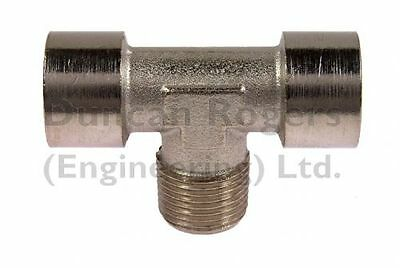 Nickel Plated Brass Centre Leg Male BSP Tee