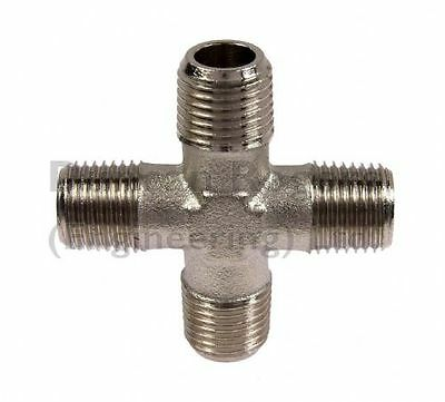 Nickel Plated Brass Male BSP Equal Cross