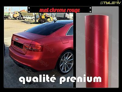 film vinyle covering mat chrome rouge 1.52 x 2 m thermoformable adhésif
