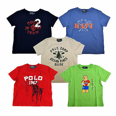 Polo Ralph Lauren Graphic T-shirts Infant Baby Boys Kids Tee Shirt New Nwt