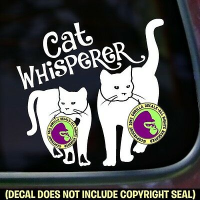 CAT WHISPERER Feline Kitty Crazy Love Car Window Bumper Sign Vinyl Decal Sticker