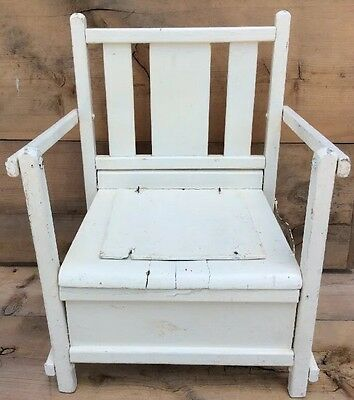 Vintage Antique Wooden Child's Potty Chair Commode