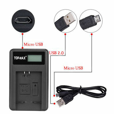 Camera Battery Charger & USB Cable Canon NB11L NB11LH Digital cameras GO3