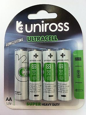 96 x AA UNiROSS  Batteries ULTRACELL Super Heavy Duty Zinc Batteries (LR6, LR06
