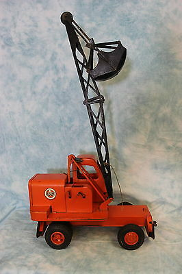 "27"" Metal Model Toys UNIT Crane and Shovel Authorized by 4U Ca.1945 Clean!!"