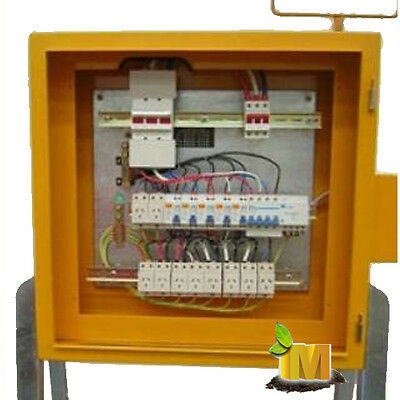 Three Phase Site Portable Temporary Power Distribution Board Main Switch  RCBO