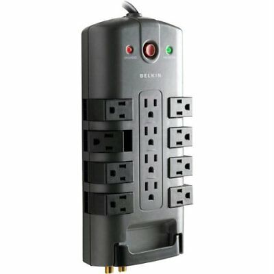 Power Management-Belkin 12-Outlet Pivot-Plug Surge Protector with Telephone and