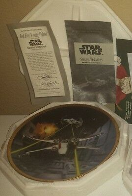 Star Wars Red Five X-Wing Fighter Hamilton Collection Plate