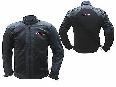 Summer Motorcycle Motorbike Sports Mesh Vent Cordura Jacket CE Approved Black