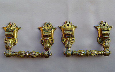 French Victorian Large Pair of Piano Handles - Paris Bronze Hardware Furniture