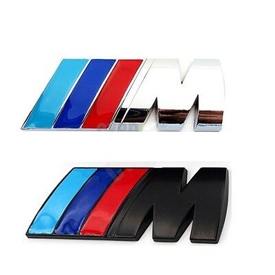 NEW 2016 3D M Badge Emblem M series Sticker Decal  Logo  for BMW rear emblem