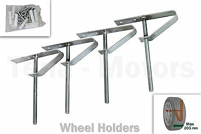 4 pcs x Wall Tyre Wheel Hook Holders Storages Stands Wall Mount /15959