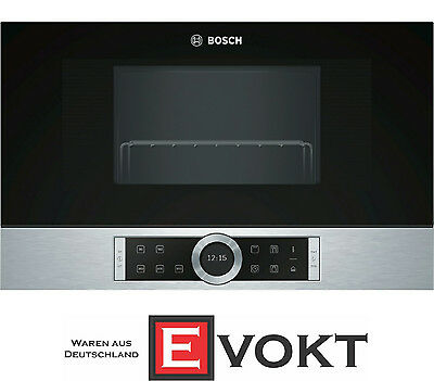 Bosch Serie 8 BER634GS1 Stainless Steel Built In Microwave Oven 21L Genuine NEW