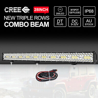 """9"""" inch 200W HID Driving Lights Xenon Spotlights Off Road 4WD Truck Work 12V Red"""