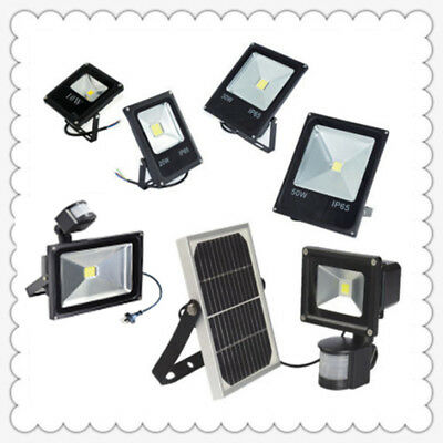 10-50W LED Flood Light Outdoor Solar/Motion Sensor Floodlight RGB Garden Pathway