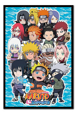Framed Naruto Shippuden SD Compilation TV Series Poster New