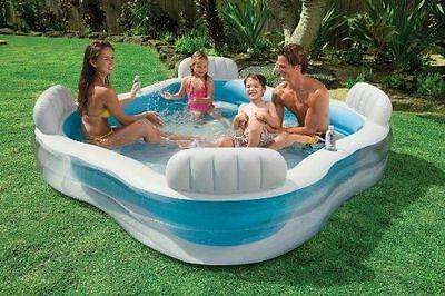 Intex Family Childrens Swim Centre Inflatable Swimming Paddling Garden Pool