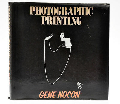"Gene Nocon libro ""Photographic Printing"" 1987 in inglese   D812"