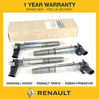 4x Genuine Renault Fuel Injectors Fits Renault Trafic 2.0 DCI M9R *0445115007*