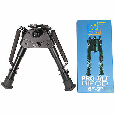 "New Webley Pro Tilt Rifle 6-9"" Swivel BIPOD Airgun Rest Hunting Target Shooting"