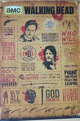 The Walking Dead - Infographic-Licensed POSTER-91cm x 61cm-Brand New