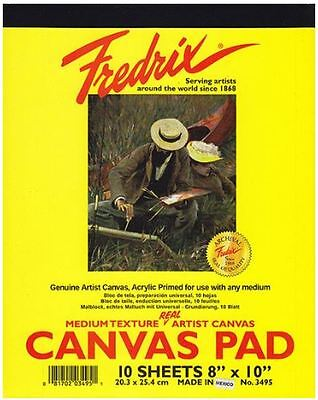 Fredrix - Canvas Pad - 10 Sheets - Primed Cotton - For Oil And Acrylic Painting