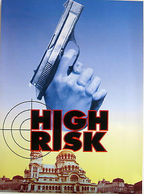 Mini Poster film HIGH RISK 1993 Max Steel Stephane Ferrara Isabel Russinova