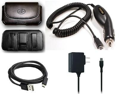 Car+Wall AC Charger+Case Holster+USB Cable Cord For TMobile/MetroPCS LG K7 MS330