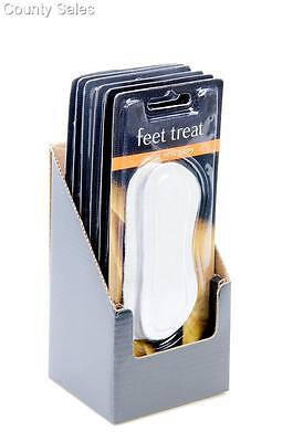 Tray of 6 pairs  'feet treat' suede heel cushion grips - free postage