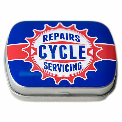 Retro Bicycle Emergency Puncture Repair Kit Complete with Metal Tin L'Eroica