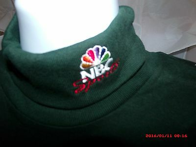 Vintage BUT New! NBC Sports Embroidered Turtleneck - Long Sleeve - Hunter Green