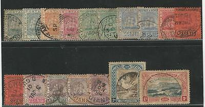 British Guiana: Lot of 17 stamps between year 1863-1898 used. BG06