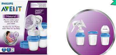 New Philips Avent SCF330/13 Natural Manual Breast Pump BPA Free