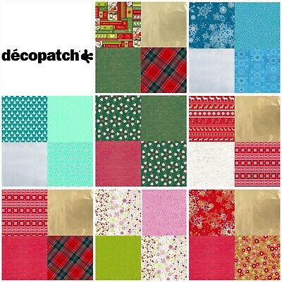 Decopatch Decoupage Christmas Festive Paper Kit Gift 4 Pieces of your Choice