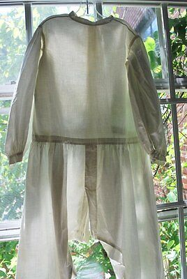 1860 Youth Size Cotton Onsie Skeleton Suit Milk Glass Buttons