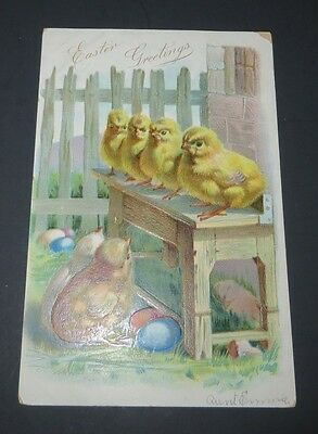 Vintage Postcard Vintage TUCK'S Post card  Easter Greetings