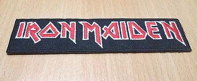 New Iron Maiden Rock Band Heavy Metal Logo Embroidered Iron On Patch Shirt Po302