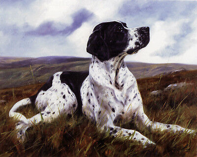 "POINTER ENGLISH DOG FINE ART LIMITED EDITION PRINT ""Dignity"" by John Trickett"