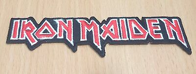 New Iron Maiden Rock Band Heavy Metal Logo Embroidered Iron On Patch Shirt Po331