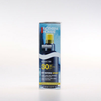 Biotherm Homme UV Defense Sport Spray Corps Frais ★ Invisible SPF 30 125ml
