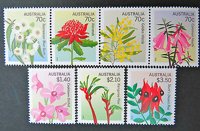 Australian Decimal Stamps: 2014 Floral Emblems - Set of 7 MNH