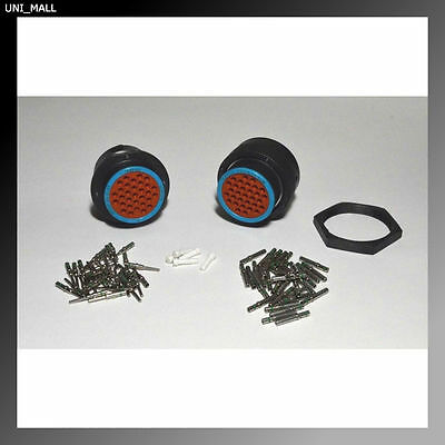 Deutsch HDP20 31-Pin Genuine Bulkhead Connector & RING kit, 14 AWG Contacts, USA