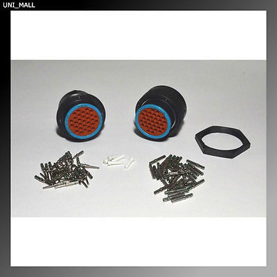 Deutsch HDP20 31-Pin Genuine Bulkhead Connector & Ring kit, 14 AWG Contacts